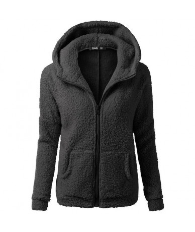 2019 Winter Black Gothic Plus Size 5XL Casual Women Hoodies Teddy Outwear Hooded Zipper Pocket Autumn Female Fashion Sweatsh...