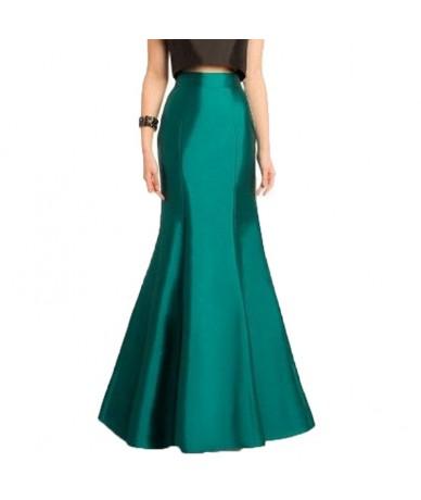 Vintage 2017 Long Green Mermaid Skirts For Women High End Custom Made Female Floor Length Skirt Vintage Maxi Skirt New - Gol...