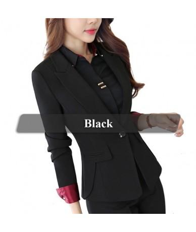 New Plus Size Professional Business Jacket for Women Work Wear Office Lady Elegant Female Blazer Coat Top - Black - 4U303312...