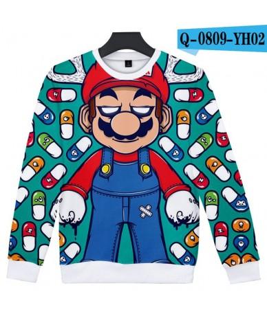 2019 New Arrival Super Mario Fashion Regular Fit Unisex Crewneck Sweatshirt Printed Long Sleeves Pollover Hoody - Multi-colo...