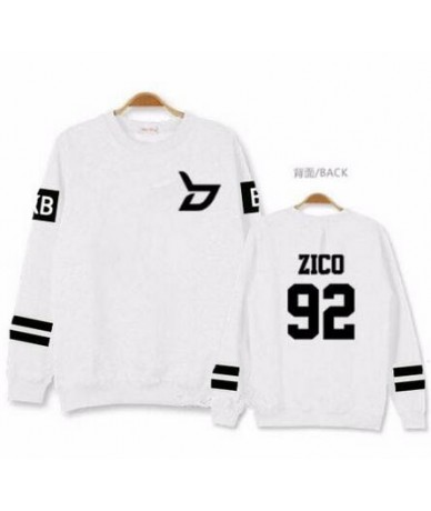 Kpop block b concert same member nname printing o neck sweatshirt unisex zico p.o pullover thin hoodie for spring - 13 - 4R3...