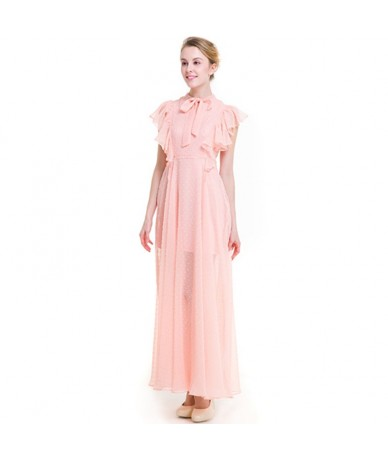 High Quality Dresses Women 2018 Round Neck Solid Color Sleeveless Sweet Slim Chiffon Dress Clothing Vesditos WA10 - WA10 - 2...