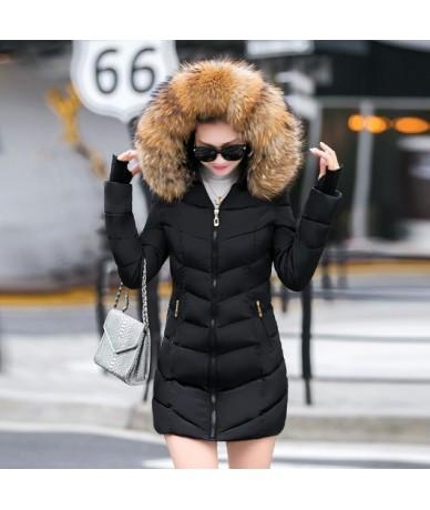 New 2019 Warm Long Parkas Female Women Winter Coat Thick Cotton Winter Jacket Womens Outerwear Parkas for Women Winter Outwe...