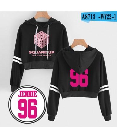 2019 Korean Women Harajuku Kawaii Blackpink Kpop Hoodie Print Hot Female Pink Coat Korea Casual Hip Hop Hoodies Sweatshirts ...