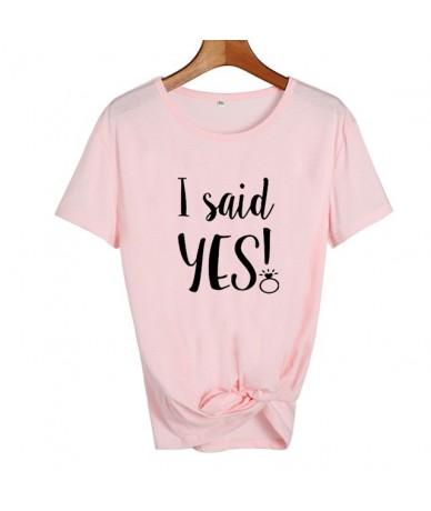 I Said Yes Tshirt Bride Wedding Party Funny T Shirts Cute Bride Harajuku Slogan T-shirt Married Women Honeymoon Tee Shirt Fe...