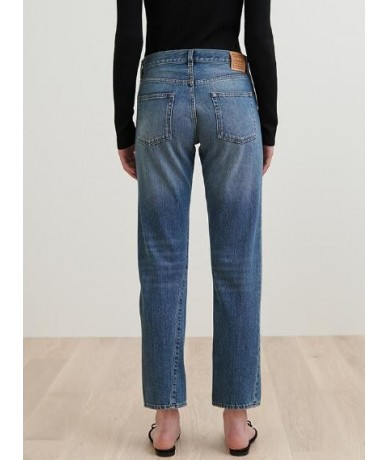 2019 New Women Straight Leg Jeans Fashion Cotton Pantalon Femme Jean Pants - Dark blue - 483000950688-3