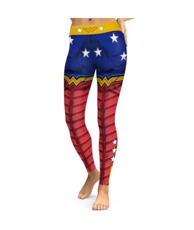New 026 Comic Wonder Woman Superman Batman Prints Elastic Slim Fitness Workout Push Up Sexy Femme Pencil Pants Women Legging...