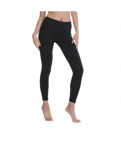 2019 women summer new arrivals fitness leggings female outdoor workout pants High waist Tummy Control pocket legging - black...