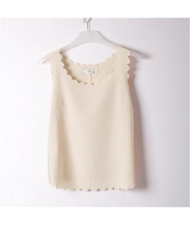 See Through Tank Tops Blusas Blouse Women Summer New Lady Chiffon Shirt Blusa Feminina Camisa Top Girls Light Pink Shirts LY...