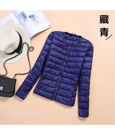 o neck spring autumn coats for women down jacket short large size xxxl duck down thin outwear long sleeve female basic cloth...