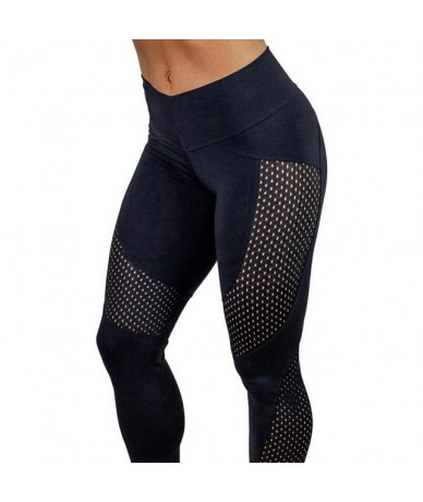Women Leggings Yuga Pants Fitness Sporting High Waist Sexy Patchwork Pants Breathable FitnessTrousers Push Hips - Black - 41...