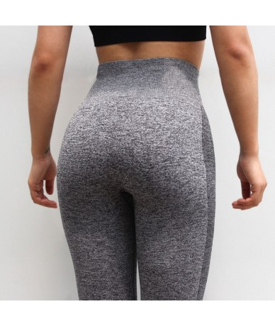 Women Seamless Leggings High Waisted Female Leggings Workout Leggings Warm Casual Pants Femme - Deep Gray - 4Q3020934024-3