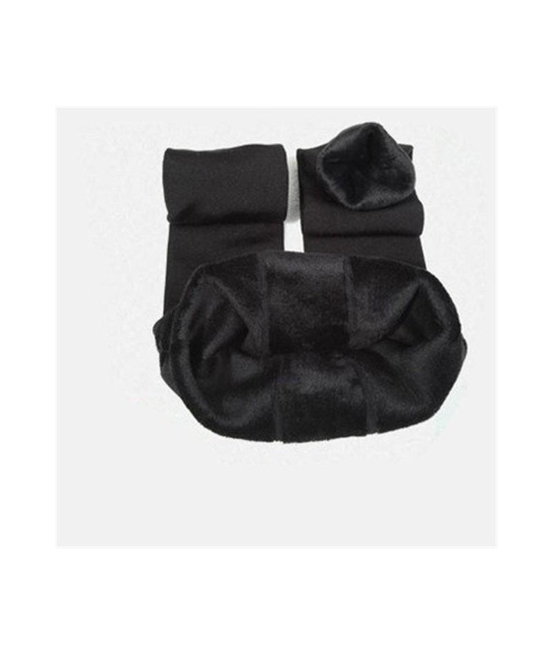 Solid Warm Leggings Women Winter Clothing Plus Thick Velvet High Waist Pants Female Casual Cheap Leggins Femme 8 Color - Bla...