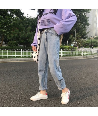 Cheap wholesale 2019 new Spring Summer Autumn Hot selling women's fashion casual Denim Pants BC121 - Blue - 403008588629