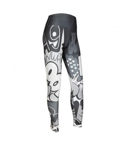 Women Digital Printing Leggings Workout Leggings High Waist Push Up Leggins Mujer Fitness Leggings Women Pants - Deep Gray -...