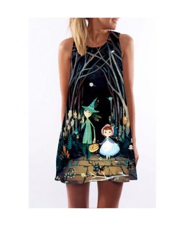 Chiffon Summer Dress 2018 New Style Sleeveless Floral Print Casual Loose Boho Dress Sundress O neck Mini Beach Dresses - Yel...