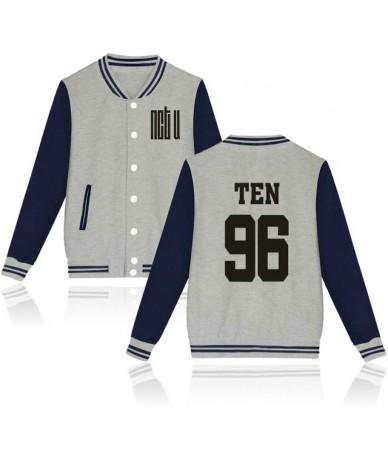 Kpop NCT U Baseball Jacket Women Men Idol Group Album Sweatshirt Member Name Print Hip Hop Hoodies Female Fans Clothes - Nav...