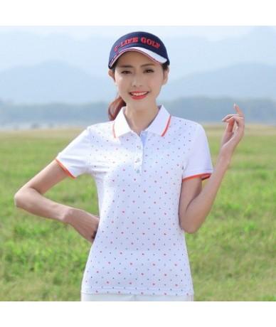 2019 Summer Horse Shirt Printed Love Dots Solid Lapel Female Shirt Short Sleeve Slim Cotton Shirts Polos Mujer Sexy L0520 - ...