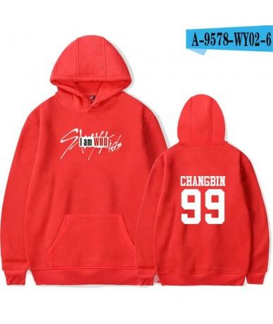 Kpop Straykids Stray Kids Album Hoodies Unisex Casual Pullover Printed Long Sleeve Member Name Sweatshirt Women Men - Red   ...
