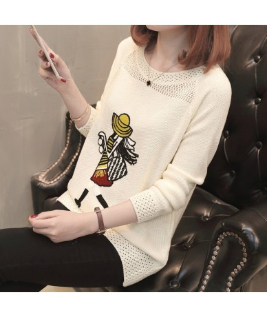 Cheap wholesale 2018 new summer Hot selling women's fashion casual warm nice Sweater L403 - Beige - 4T3017168679-1