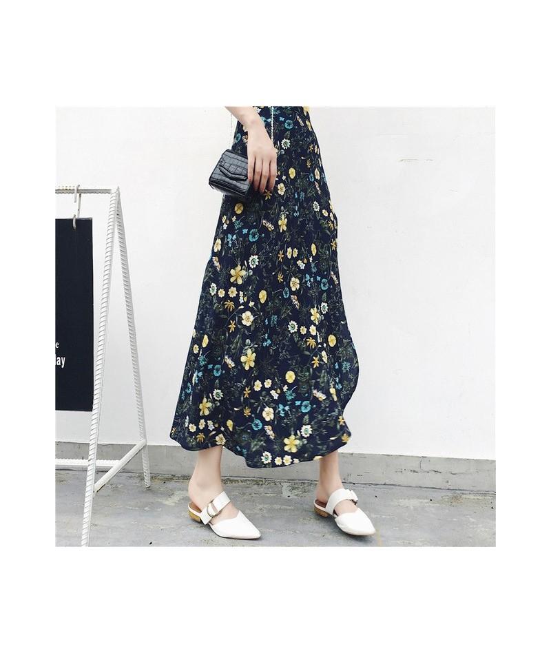 2019 Bohemian High Waist Floral Print Summer Skirts Womens Boho Asymmetrical Chiffon Skirt Maxi Long Skirts For Women - 25 -...