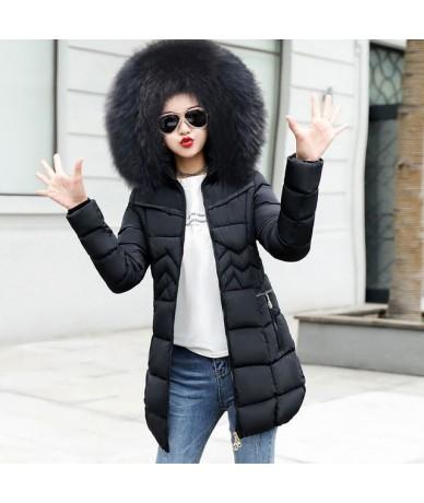 2019 New Long Parkas Female Winter Coat Women Fake Fur Collar Winter Jacket Womens Outwear Parkas for Women Winter Outwear -...