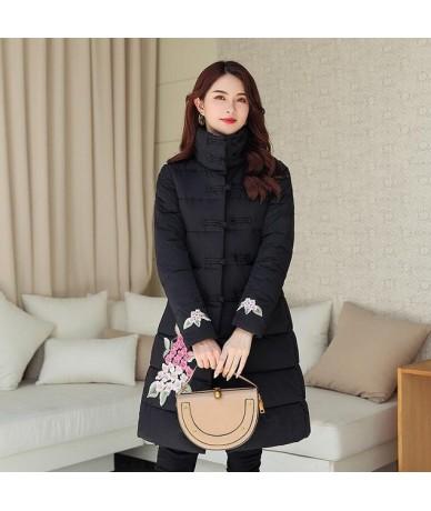 2019 New Women Winter Hooded Warm Coat Cotton Padded Jacket Female Long Parka Womens Wadded Jaqueta Feminina - Black - 51111...