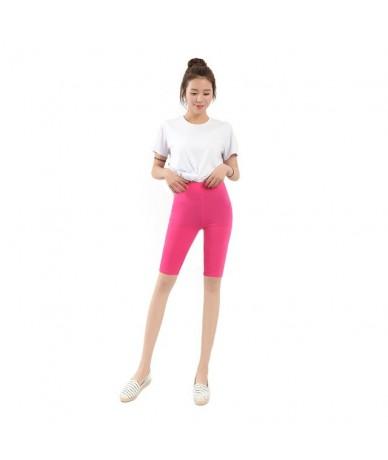 2019 New Women Knee Length Elastic Solid Color Ladies Casual Trousers Fitness Plus Size Short Feminino Woman Spodenki Damski...
