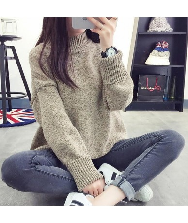 Fashion solid color long sleeve sweaters women warm winter women sweaters pull femme loose knitted female clothes jumper - K...