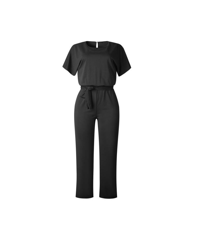 2019 Summer Jumpsuit Women Short Sleeve Elegant Jumpsuits Long Pants Casual Work Romper Autumn Office Lady Bodysuit Overalls...