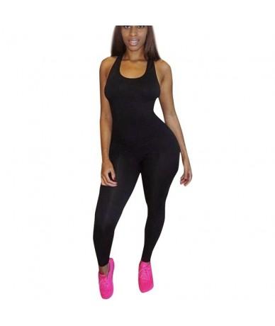 Jumpsuit Women Black Red 2019 Jumpsuits Casual Sleeveless Bodycon Romper Jumpsuit Club Bodysuit Long Pants combinaison -30 6...