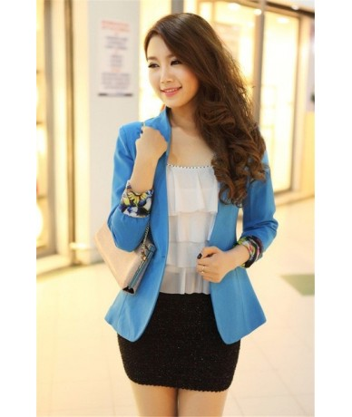 Spring Jacket Small Suit Coat Blaser Femenino Candy-Color Blazer Jacket Slim Women Blazers And Jackets Long Sleeve Outwear C...