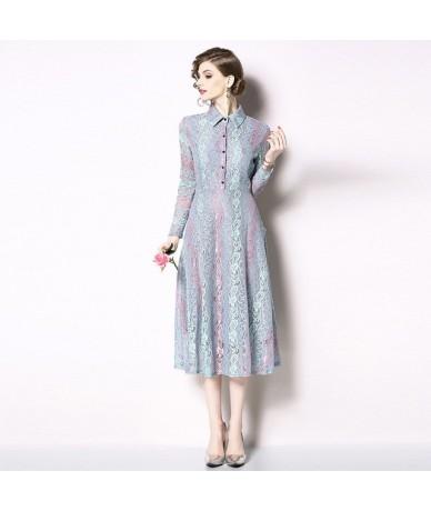 Retro-style Long Sleeve Large-pendulum Lace Dress Vetement Femme 2019 Spring Shirt Midi Party Dress Sukienka Damska K8287 - ...