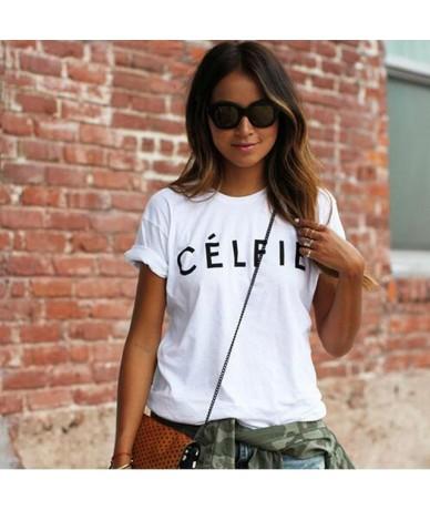 Fashion Russian Letter Print Women T-shirts tops White Black Short Sleeve Harajuku Casual Slim tshirt tees FOR Lady - 26 - 4...