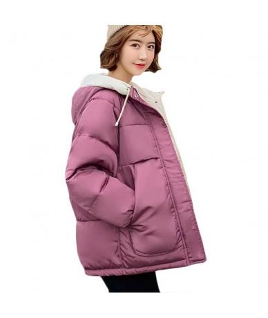 New Autumn Winter Thick Warm Down cotton Jacket Women Korean Casual Short Cotton Jackets Yellow Womens Fashion Hooded Parkas...