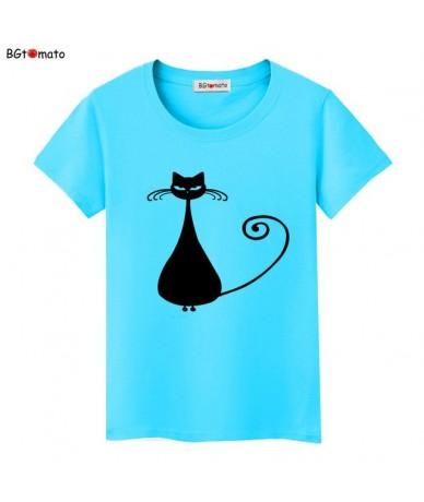 Hot sale summer naughty black cat 3D T shirt women lovely cartoon tshirt Good quality original brand shirts casual tops - 16...