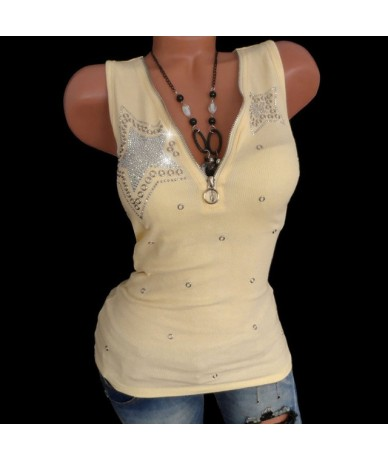 Women Lady Hot Drill Zipper Sleeveless Vest Tank Blouse Pullover Top Shirt Women Lace Vest Sleeveless Loose Crop Gilet dete5...