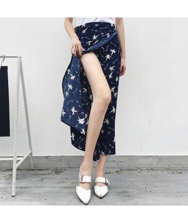 2019 Bohemian High Waist Floral Print Summer Skirts Womens Boho Asymmetrical Chiffon Skirt Long Skirts For Women - 11 - 4841...