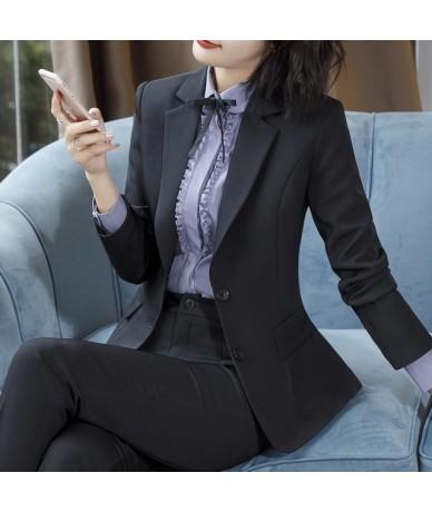 Elegant Black Pant Suits Women Business Work Jacket Trousers Fashion Casual Office Pants Blazer Set Female Clothing Plus Siz...