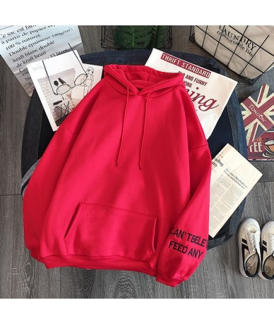 Fashion Autumn Warm Hoodies For Women Sweatshirts Korean Ulzzang Harajuku Loose Pocket Long Sleeve Velvet Sweatshirt - see c...