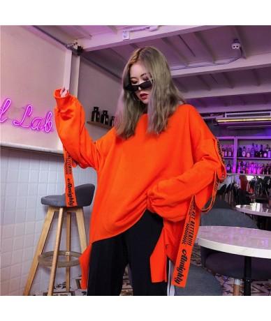 Hoodies Women Harajuku Trendy Oversize Chic Korean Style Patchwork Womens Sweatshirt Casual O-Neck Loose Printing Pullover D...