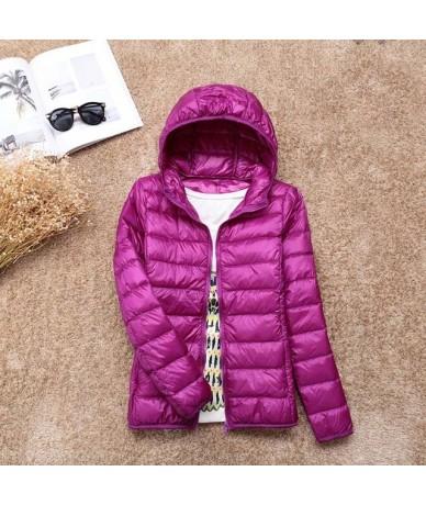 2018 New Winter Warm Ultra Light 90% White Duck Down Jacket Women Down Coat With Bag Women Thin Hooded Autumn Jackets coat B...