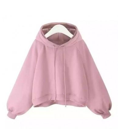Short Hoodies Women Casual Poleron Mujer 2019 Korean Oversized Hoodie 5xl Drawstring Plain Thick Warm Hooded Sweatshirt Crop...