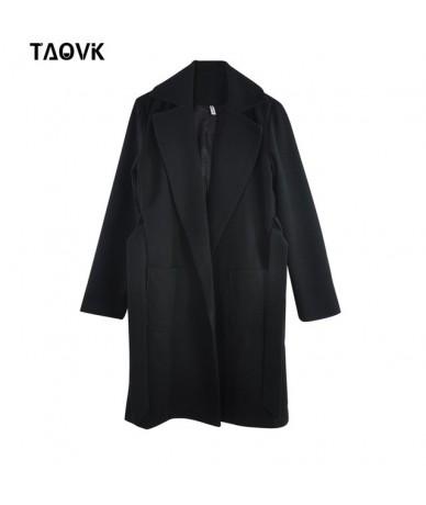 Women's Jackets & Coats Medium-long Belt Wool & Blends Coat Turn-down Collar Solid Color Pockets Parka - Black - 463859446847-2