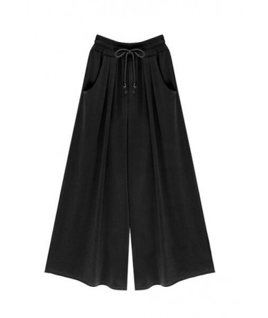 Oversized 2019 Spring/Summer Wide leg pants Women's clothing Fashion Loose Casual High waist Stretch Wide leg pants Skirt M-...