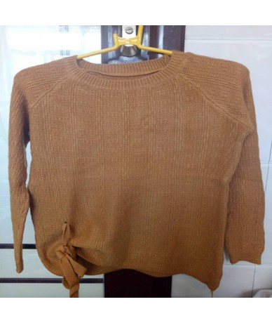 Cheap wholesale 2018 new autumn winter Hot selling women's fashion casual warm nice Sweater L591 - earthy yellow - 4V3031509...