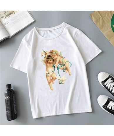 Angel children fight printing cartoon cute Harajuku summer new fashion ins casual loose women's T-shirt tops - 10 - 4O308896...