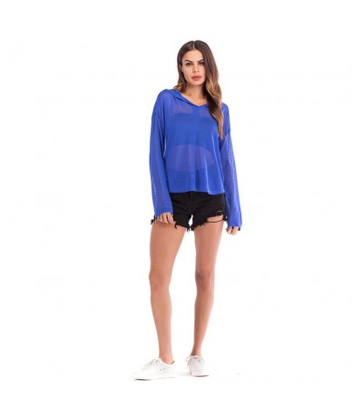 2019 Autumn Winter Women Sheer Sweater Hooded Long Sleeves Knit Pullover See-through Sweater For Ladies Jumper casaco femini...