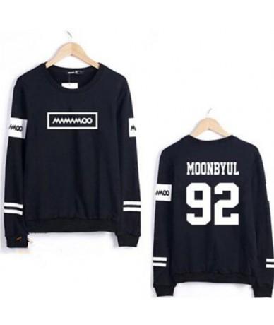 Kpop mamamoo solar moonbyul member name printing o neck thin sweatshirt for spring fashion pullover hoodies for fans - moonb...