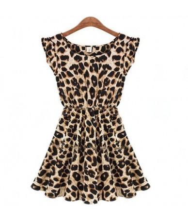 Print Dress Women Summer Dresses Leopard Vestido Plus Size S-XL Slim Beach Dress Girl High Quality Casual Mini Dress - S072 ...